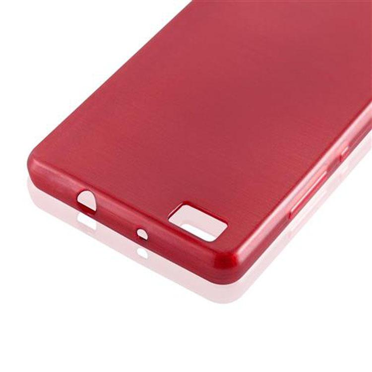 Custodia-Cover-Silicone-per-Huawei-P8-LITE-2015-TPU-Case-Effetto-Acciaio miniatura 32