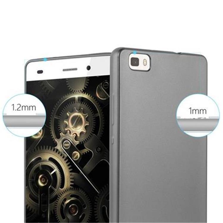 Custodia-Cover-Silicone-per-Huawei-P8-LITE-2015-TPU-Case-Metallico-Opaco miniatura 28