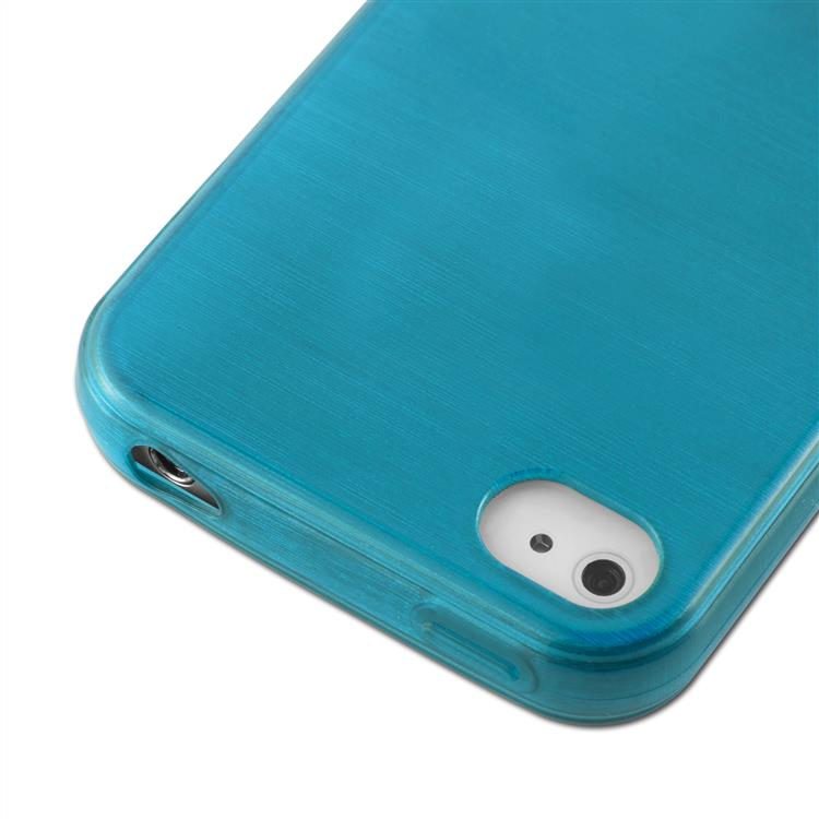Custodia-Cover-Silicone-per-Apple-iPhone-4-4S-TPU-Case-Effetto-Acciaio miniatura 16