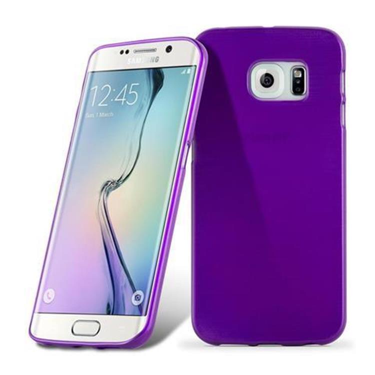 Custodia-Cover-Silicone-per-Samsung-Galaxy-S6-EDGE-TPU-Case-Effetto-Acciaio miniatura 38