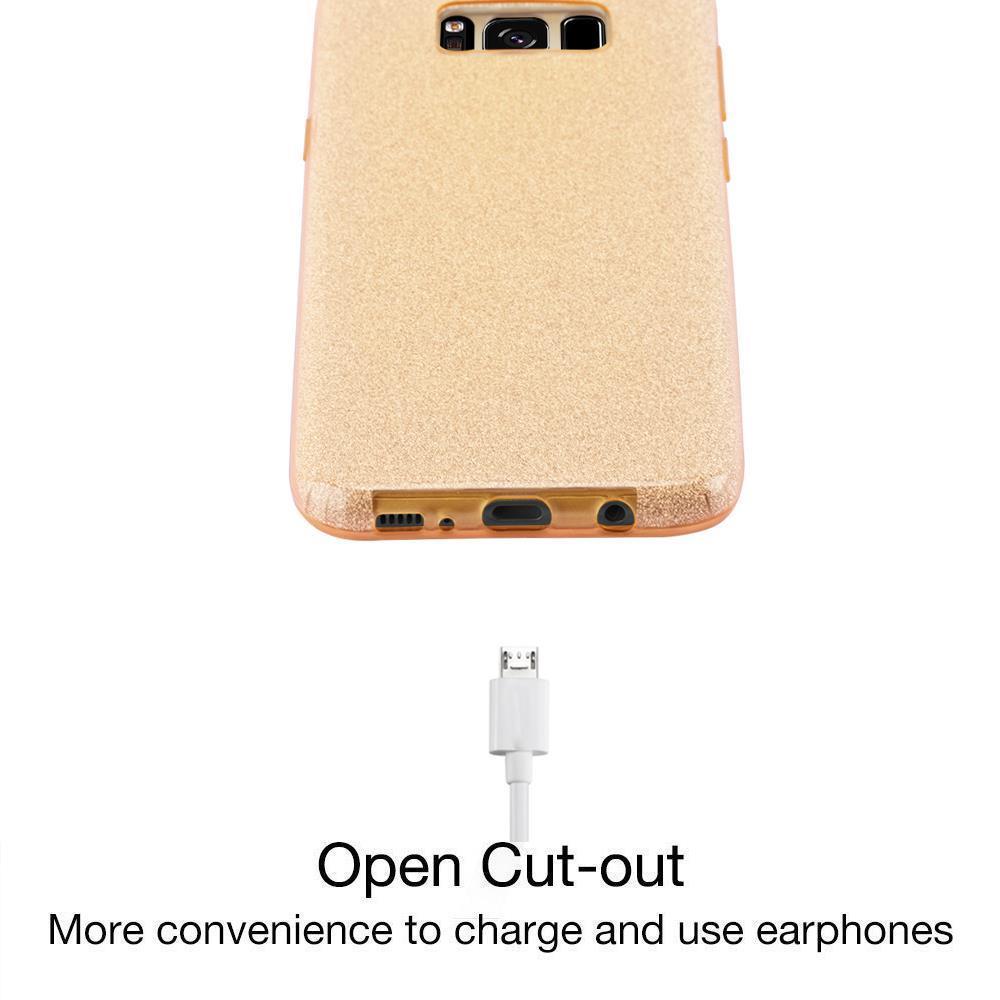 Custodia-Cover-Silicone-per-Samsung-Galaxy-S8-TPU-Case-Glitter miniatura 12