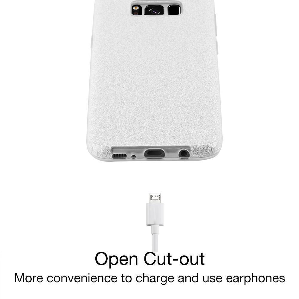 Custodia-Cover-Silicone-per-Samsung-Galaxy-S8-TPU-Case-Glitter miniatura 24