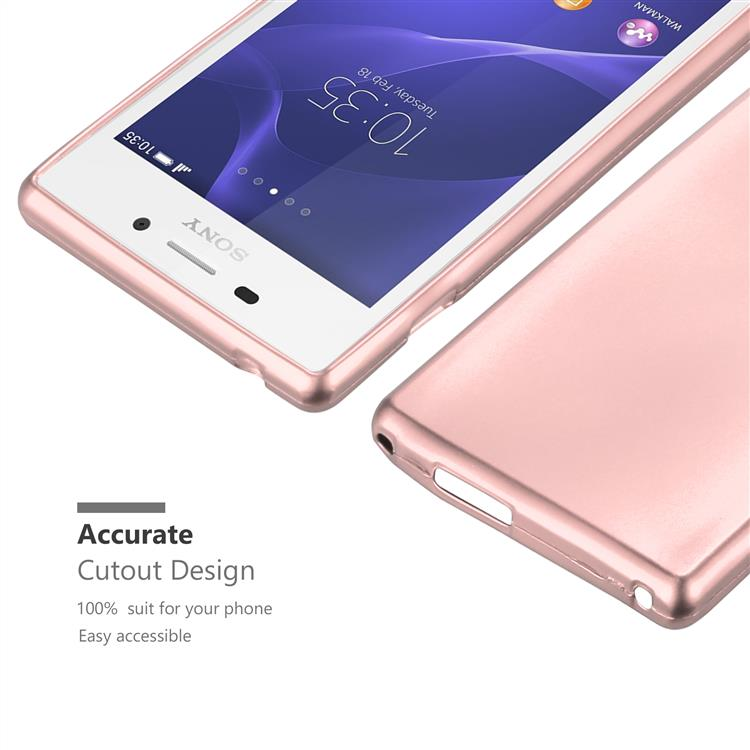 Custodia-Cover-Silicone-per-Sony-Xperia-M2-M2-Aqua-TPU-Case-Metallico-Opaco miniatura 29