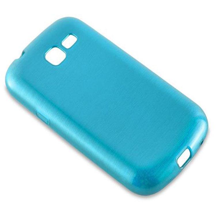 Custodia-Cover-Silicone-per-Samsung-Galaxy-TREND-LITE-TPU-Case-Effetto-Acciaio miniatura 14