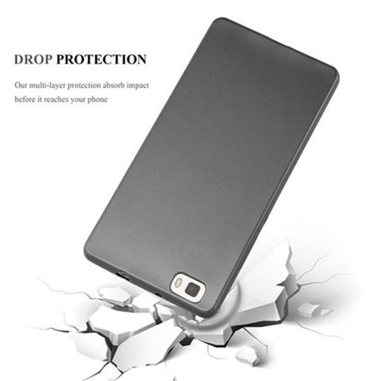 Custodia-Cover-Silicone-per-Huawei-P8-LITE-2015-TPU-Case-Metallico-Opaco miniatura 26