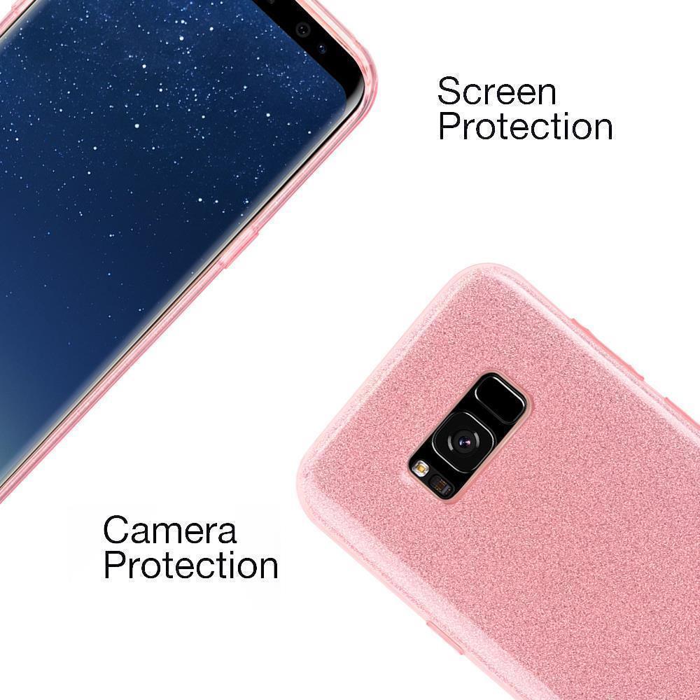 Custodia-Cover-Silicone-per-Samsung-Galaxy-S8-TPU-Case-Glitter miniatura 7