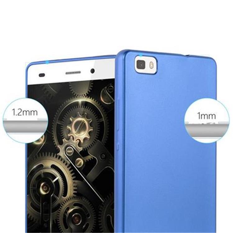 Custodia-Cover-Silicone-per-Huawei-P8-LITE-2015-TPU-Case-Metallico-Opaco miniatura 34