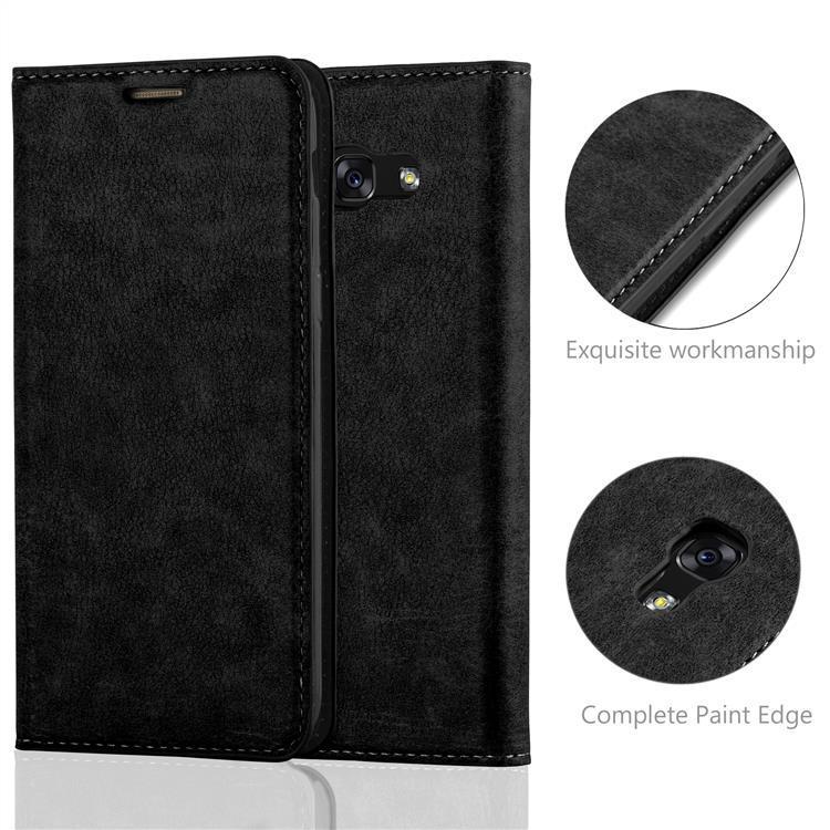 Custodia-per-Samsung-Galaxy-A7-2017-Portafoglio-Cover-Case-Magnetica-Libro miniatura 22
