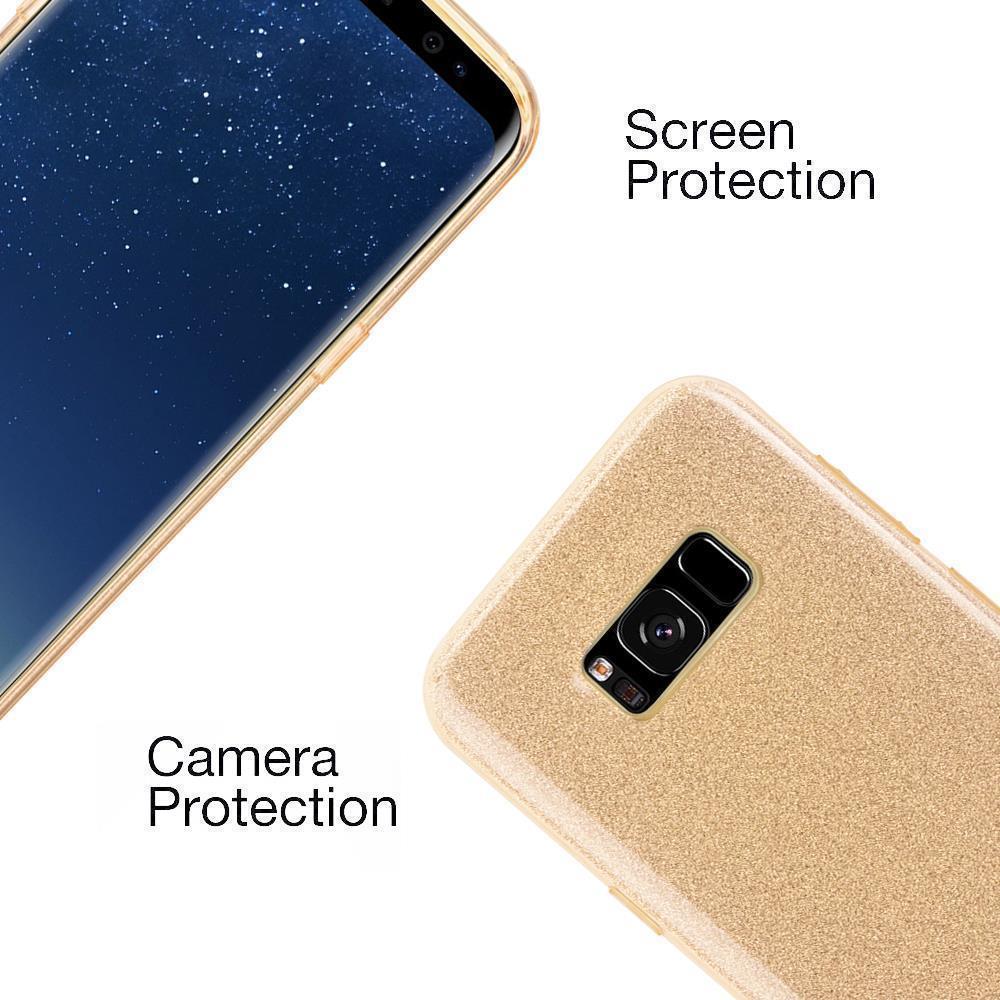 Custodia-Cover-Silicone-per-Samsung-Galaxy-S8-TPU-Case-Glitter miniatura 13