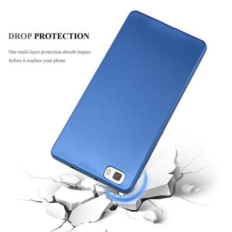Custodia-Cover-Silicone-per-Huawei-P8-LITE-2015-TPU-Case-Metallico-Opaco miniatura 32
