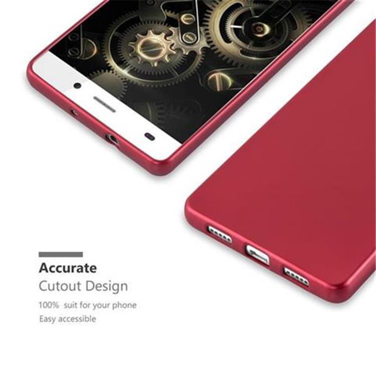 Custodia-Cover-Silicone-per-Huawei-P8-LITE-2015-TPU-Case-Metallico-Opaco miniatura 12