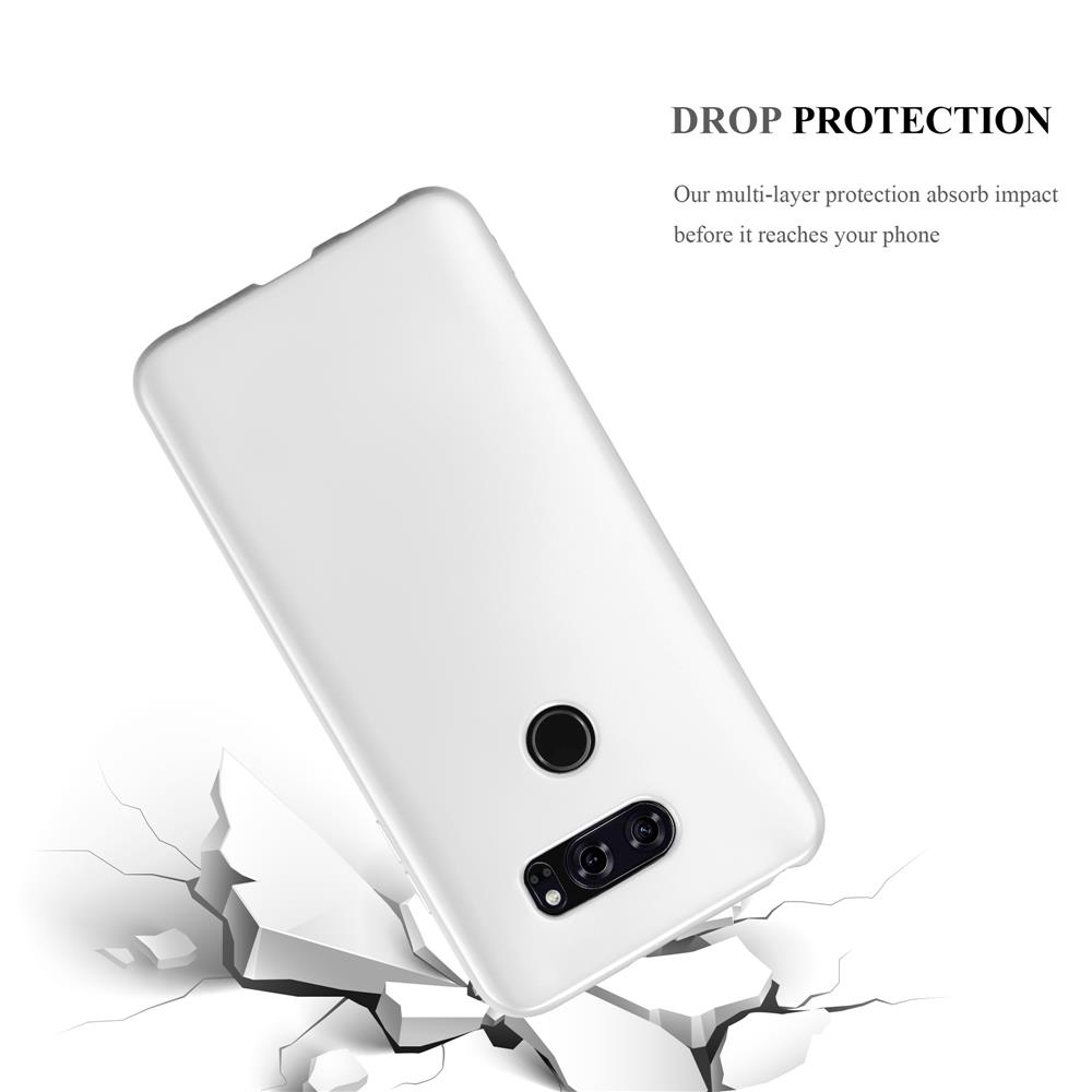 Custodia-Cover-Silicone-per-LG-V30-TPU-Case-Metallico-Opaco miniatura 32