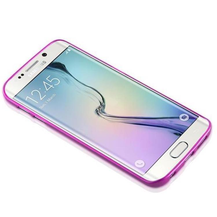Custodia-Cover-Silicone-per-Samsung-Galaxy-S6-EDGE-TPU-Case-Effetto-Acciaio miniatura 19