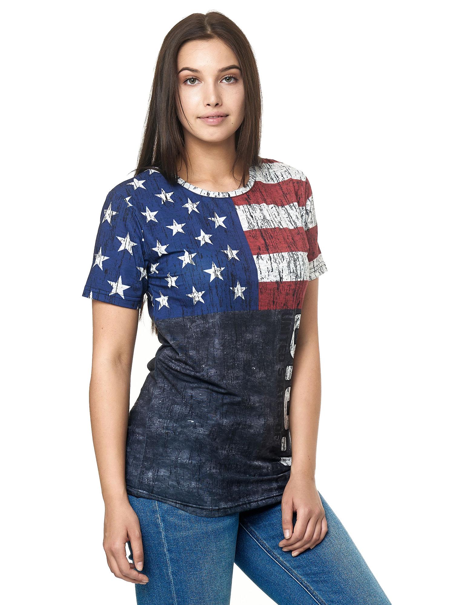 Paesi-da-Donna-T-shirt-A-Maniche-Corte-Girocollo-donne-CALCIO-Fanshirt-John-Kayna miniatura 14
