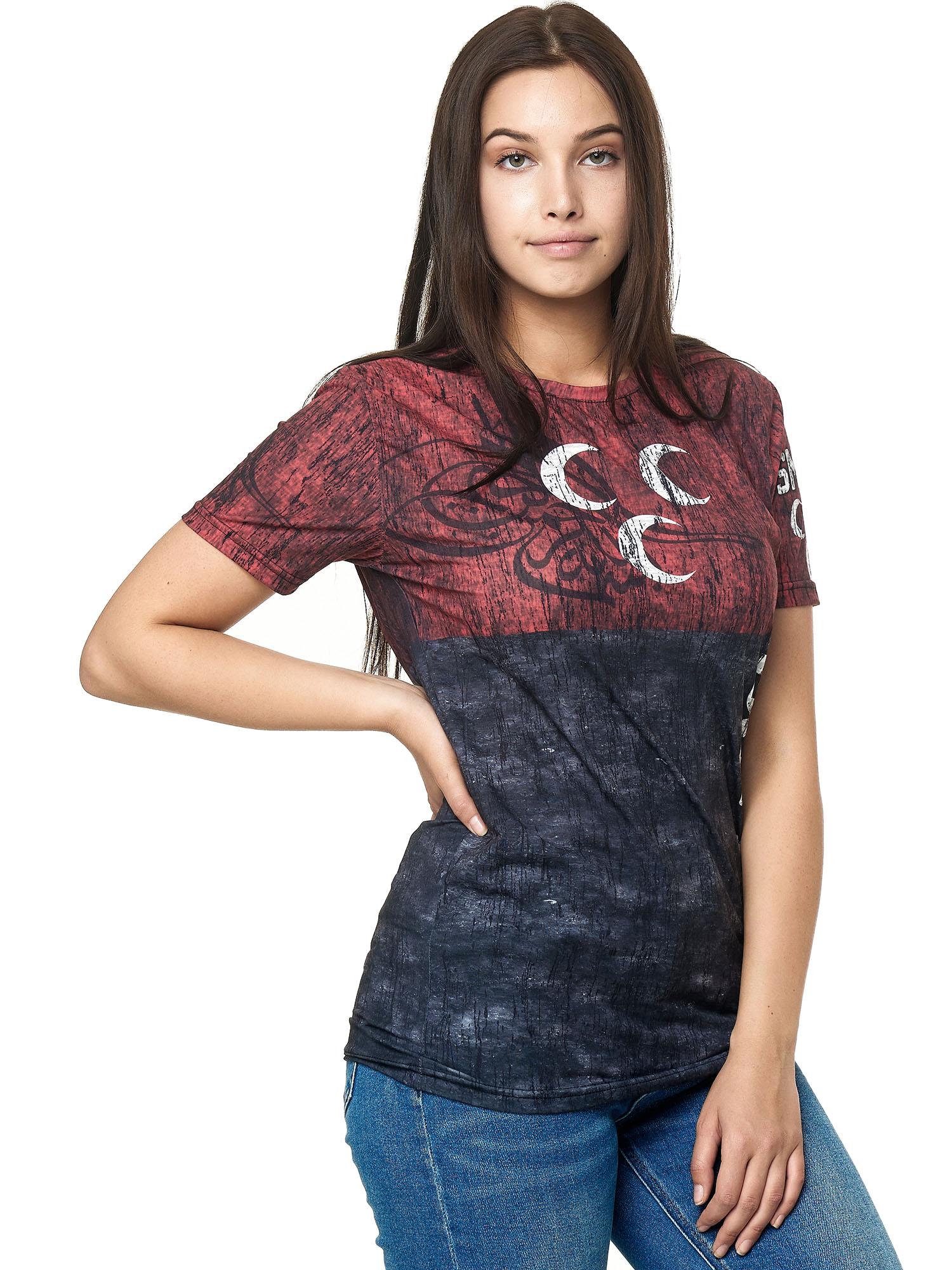 Paesi-da-Donna-T-shirt-A-Maniche-Corte-Girocollo-donne-CALCIO-Fanshirt-John-Kayna miniatura 83