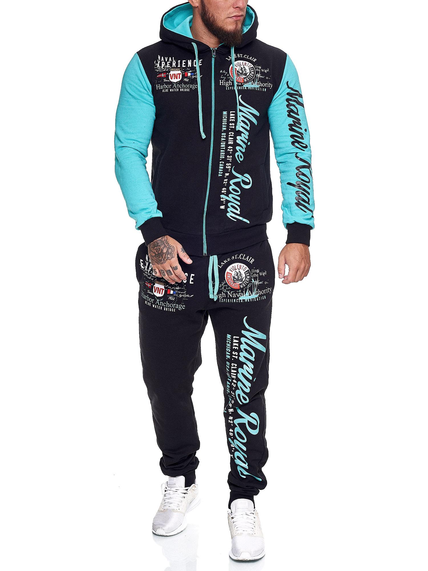 Damen-Jogginganzug-Frauen-Trainingsanzug-Sportanzug-Streetwear-JG-512-John-Kayna Indexbild 41