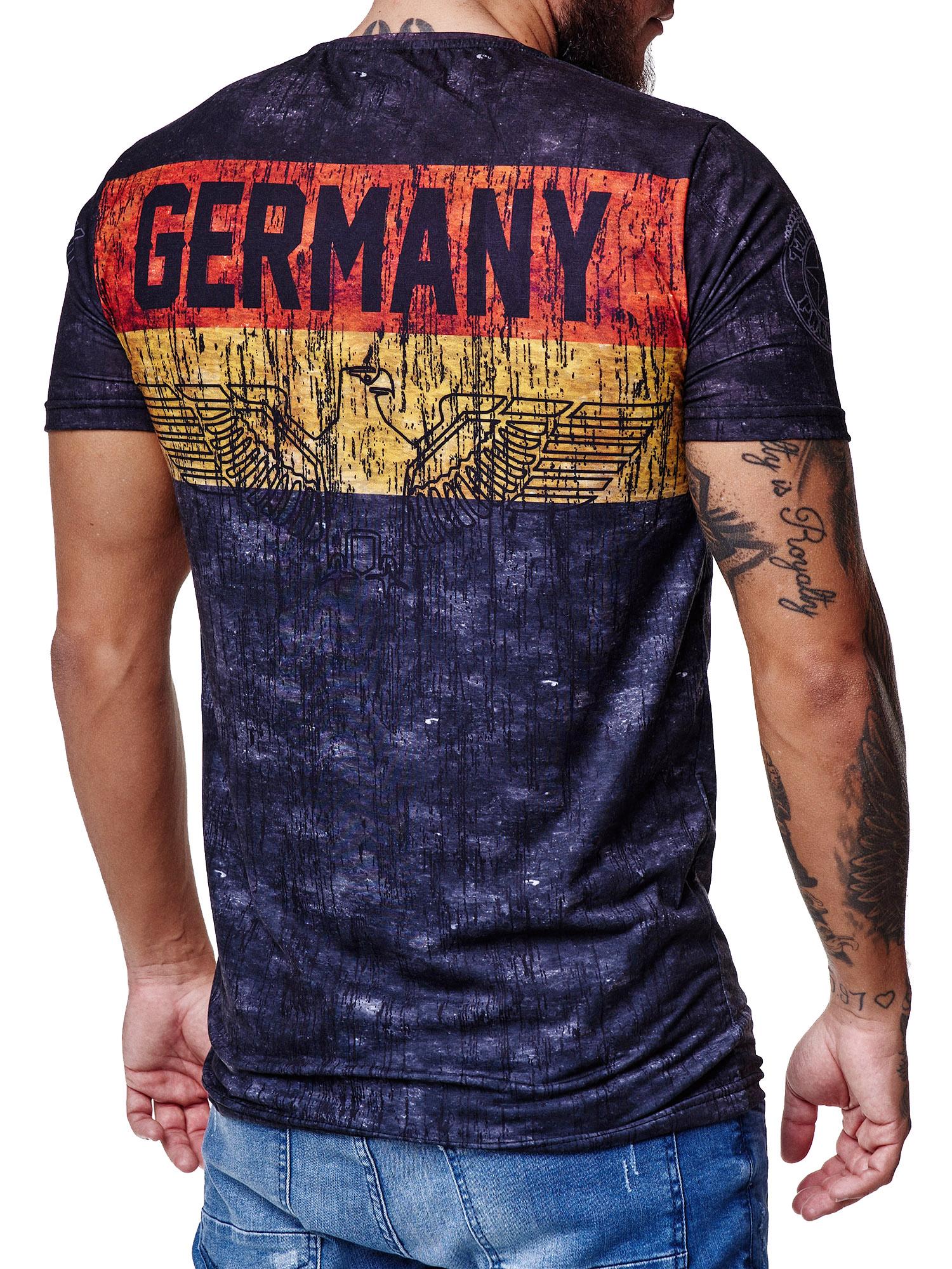 Paesi-da-Donna-T-shirt-A-Maniche-Corte-Girocollo-donne-CALCIO-Fanshirt-John-Kayna miniatura 50