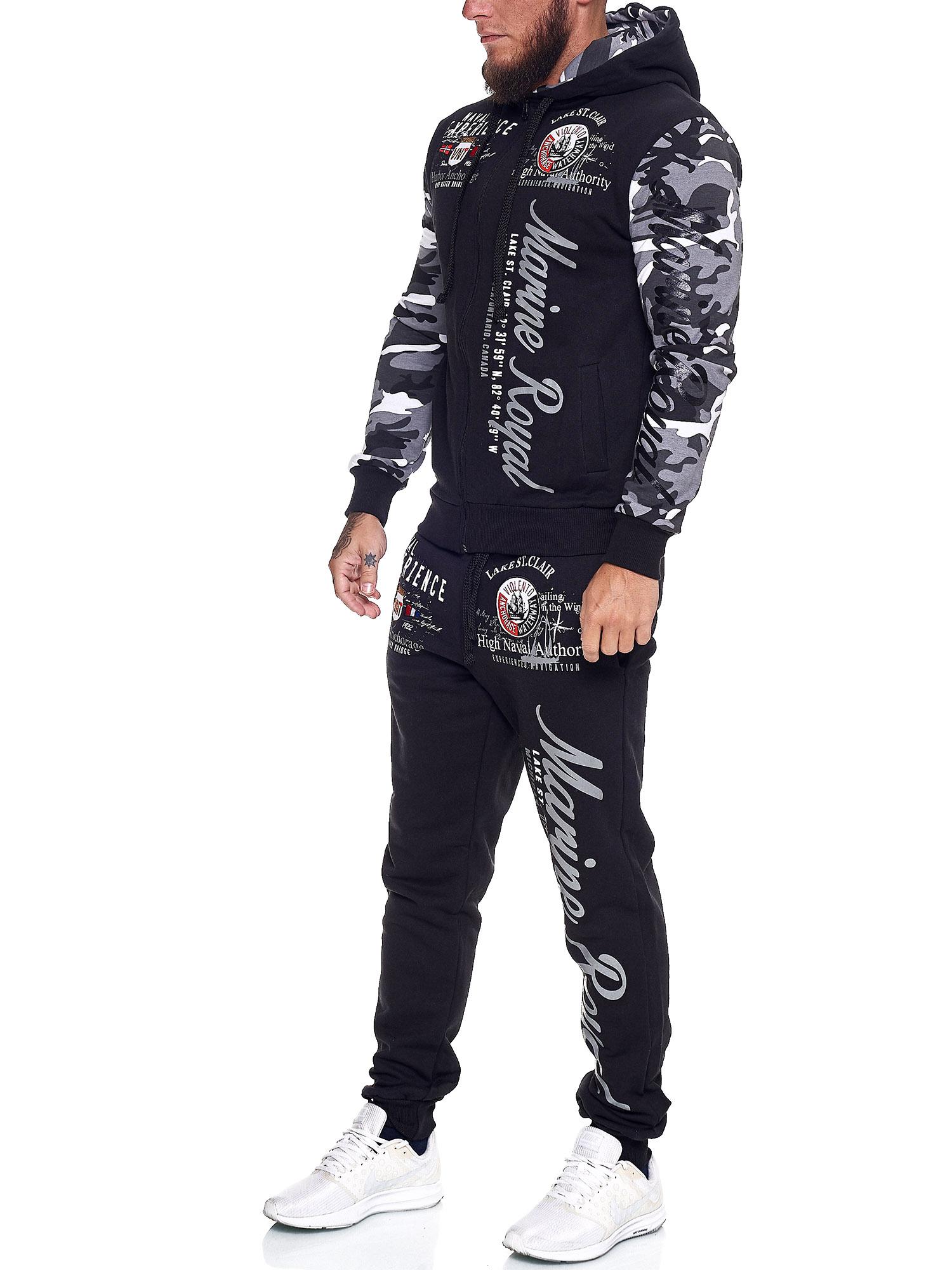 Damen-Jogginganzug-Frauen-Trainingsanzug-Sportanzug-Streetwear-JG-512-John-Kayna Indexbild 50