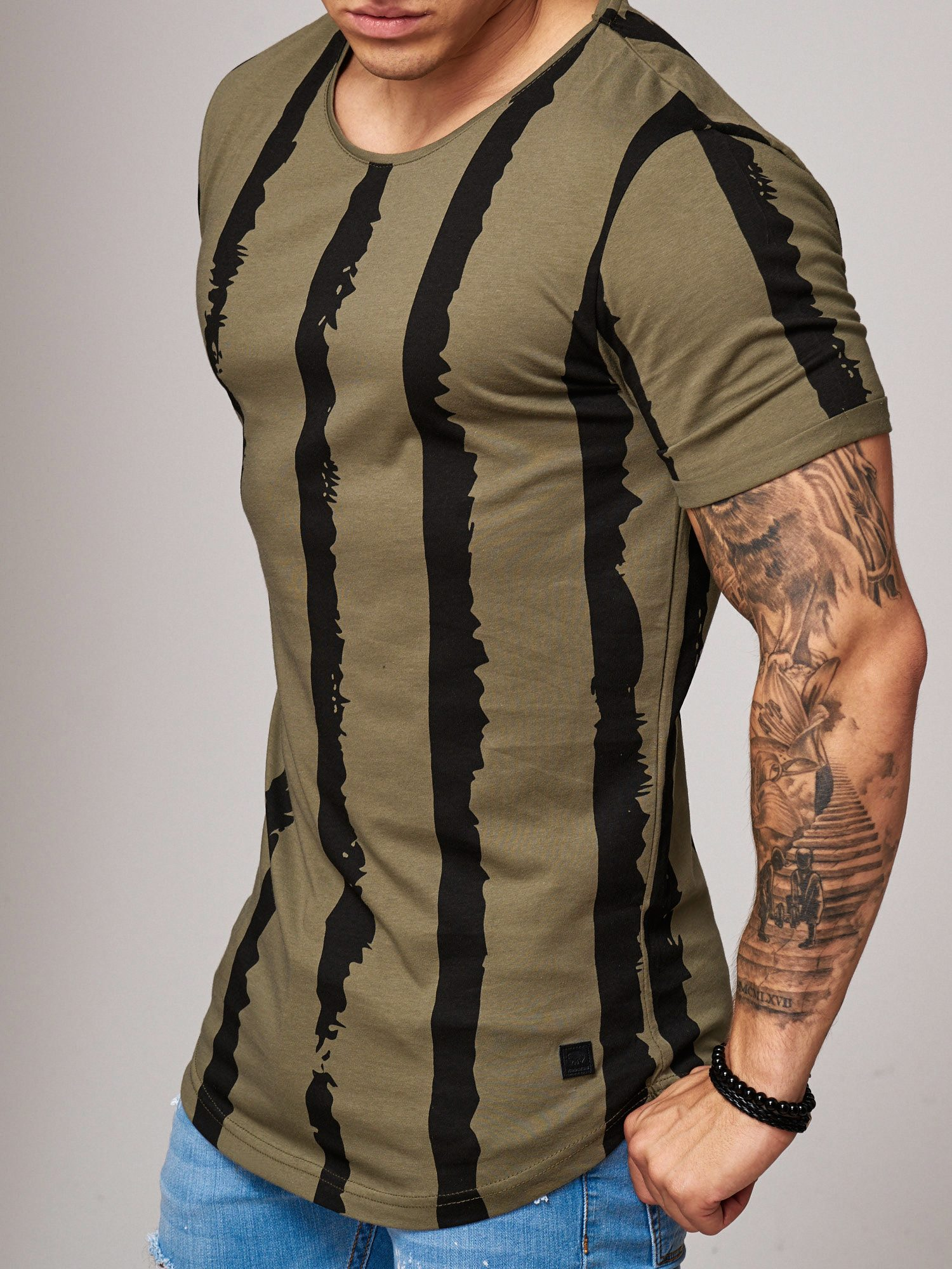 T-shirt-da-Uomo-Polo-Shirt-a-Maniche-Corte-printshirt-Polo-a-Maniche-Corte-17018-John-Kayna miniatura 17