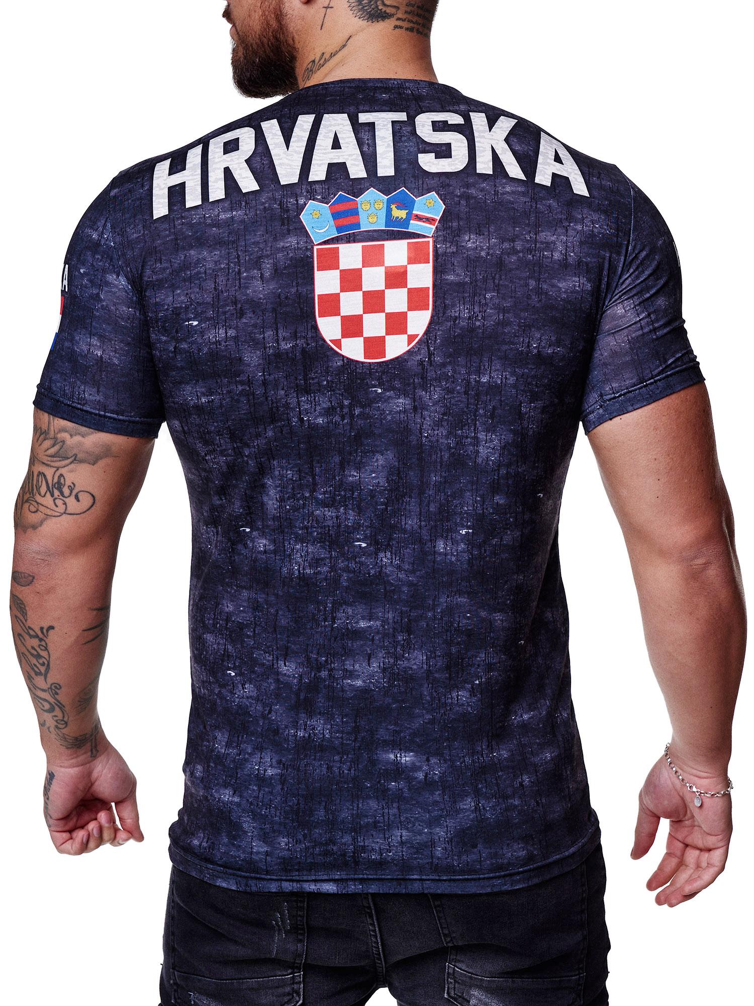Paesi-da-Donna-T-shirt-A-Maniche-Corte-Girocollo-donne-CALCIO-Fanshirt-John-Kayna miniatura 60