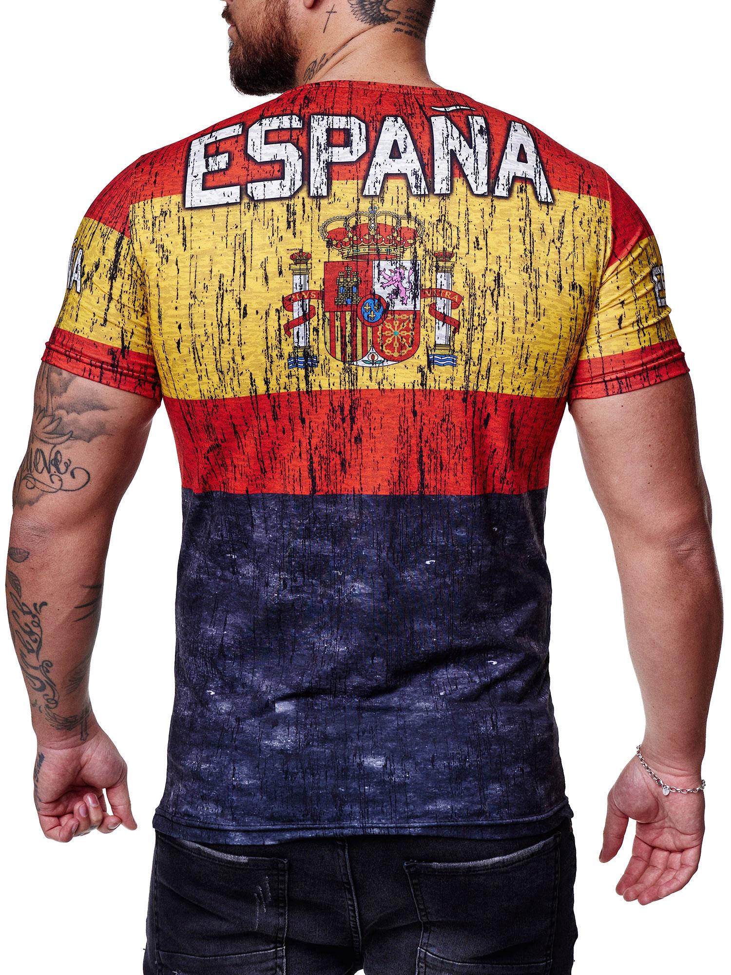 Paesi-da-Donna-T-shirt-A-Maniche-Corte-Girocollo-donne-CALCIO-Fanshirt-John-Kayna miniatura 110