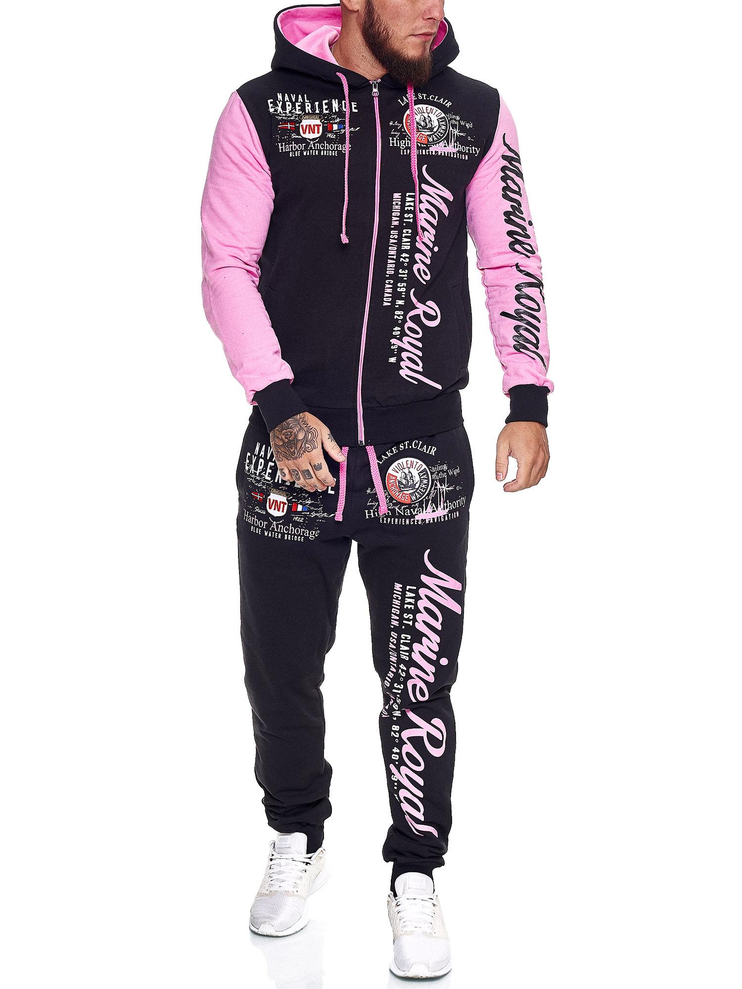 Damen-Jogginganzug-Frauen-Trainingsanzug-Sportanzug-Streetwear-JG-512-John-Kayna Indexbild 35