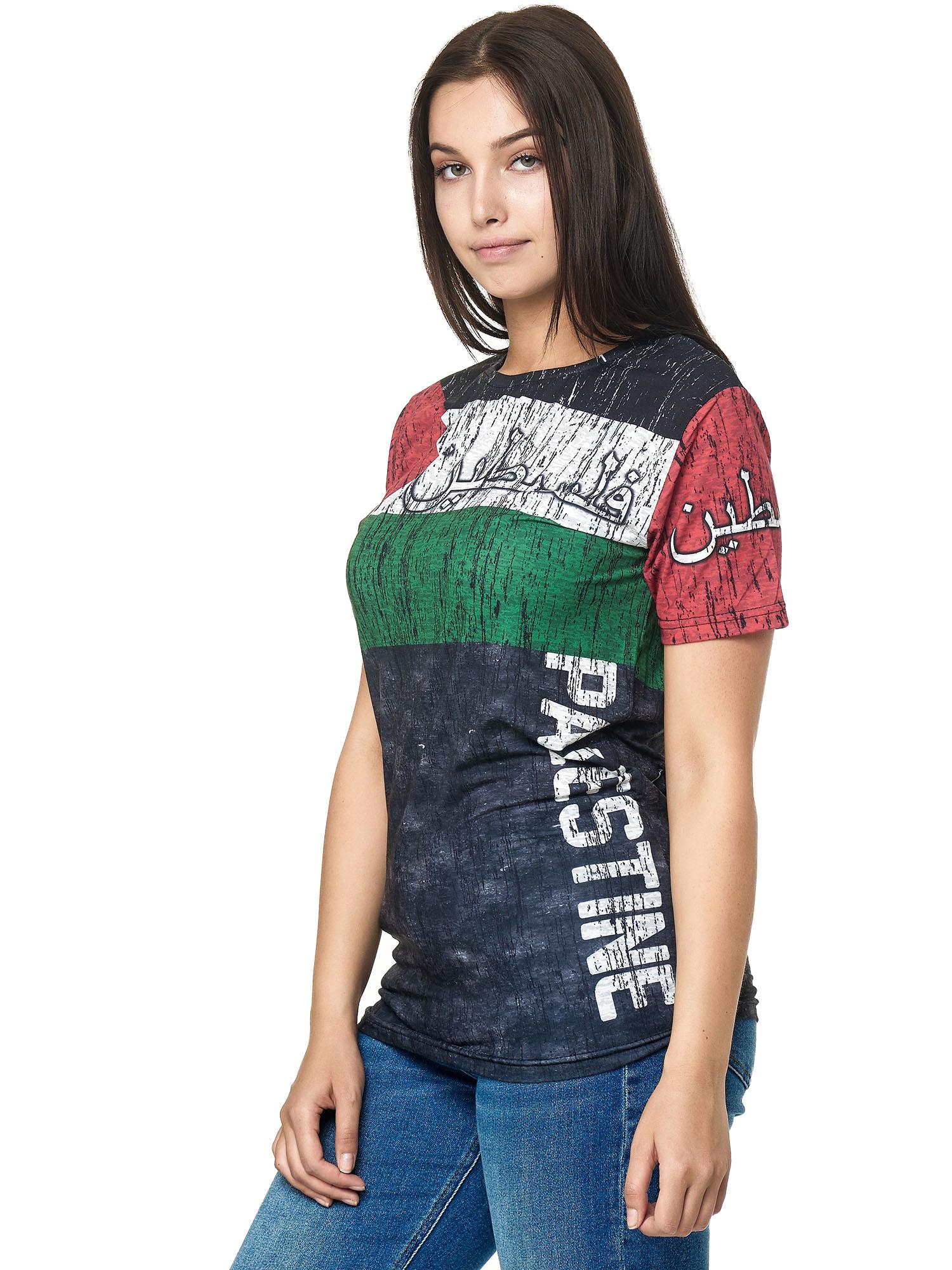 Paesi-da-Donna-T-shirt-A-Maniche-Corte-Girocollo-donne-CALCIO-Fanshirt-John-Kayna miniatura 87