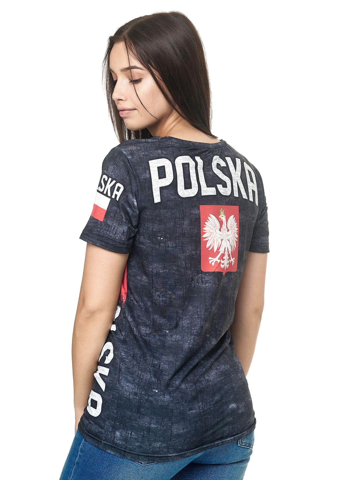 Paesi-da-Donna-T-shirt-A-Maniche-Corte-Girocollo-donne-CALCIO-Fanshirt-John-Kayna miniatura 94