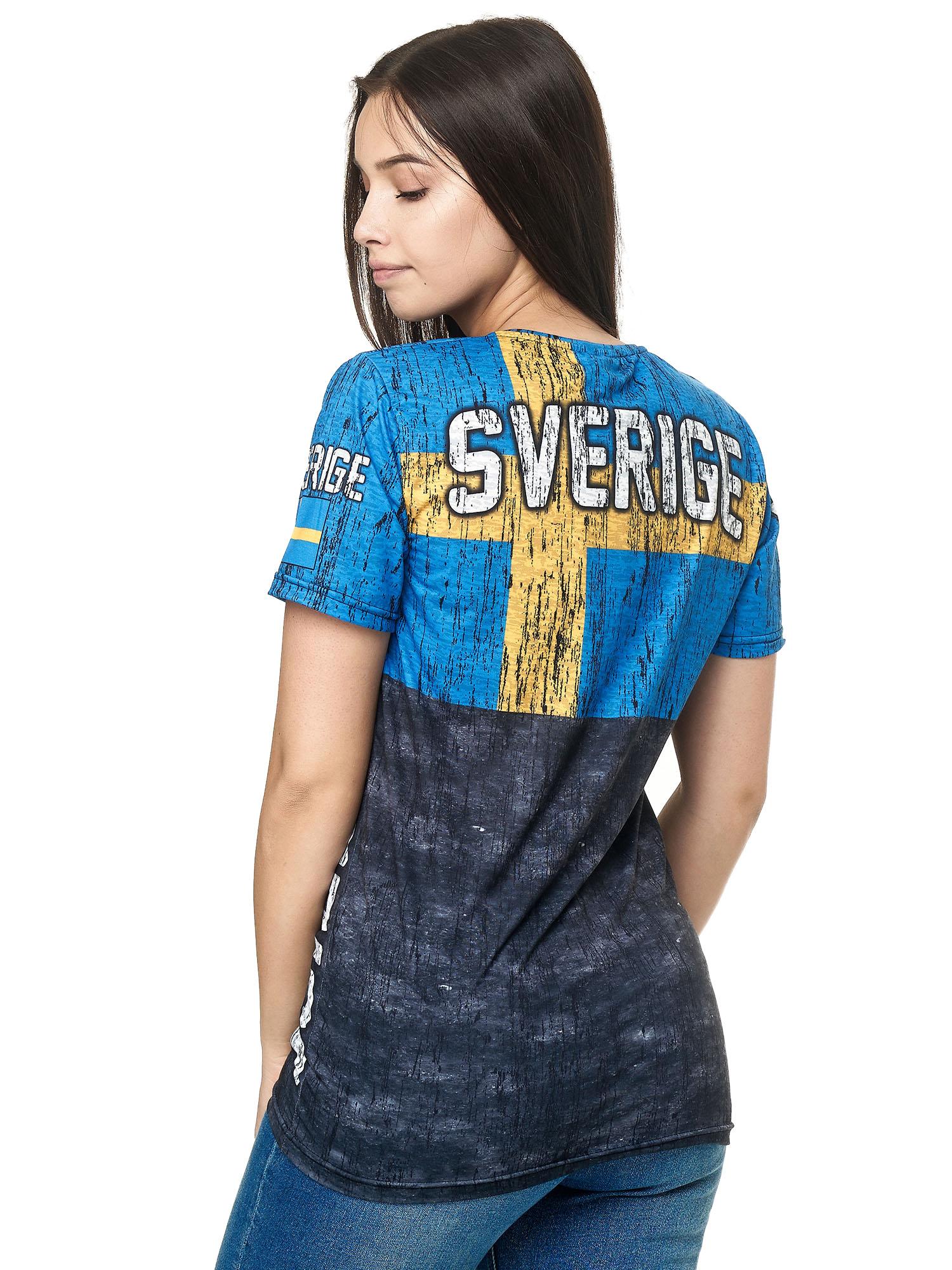 Paesi-da-Donna-T-shirt-A-Maniche-Corte-Girocollo-donne-CALCIO-Fanshirt-John-Kayna miniatura 104
