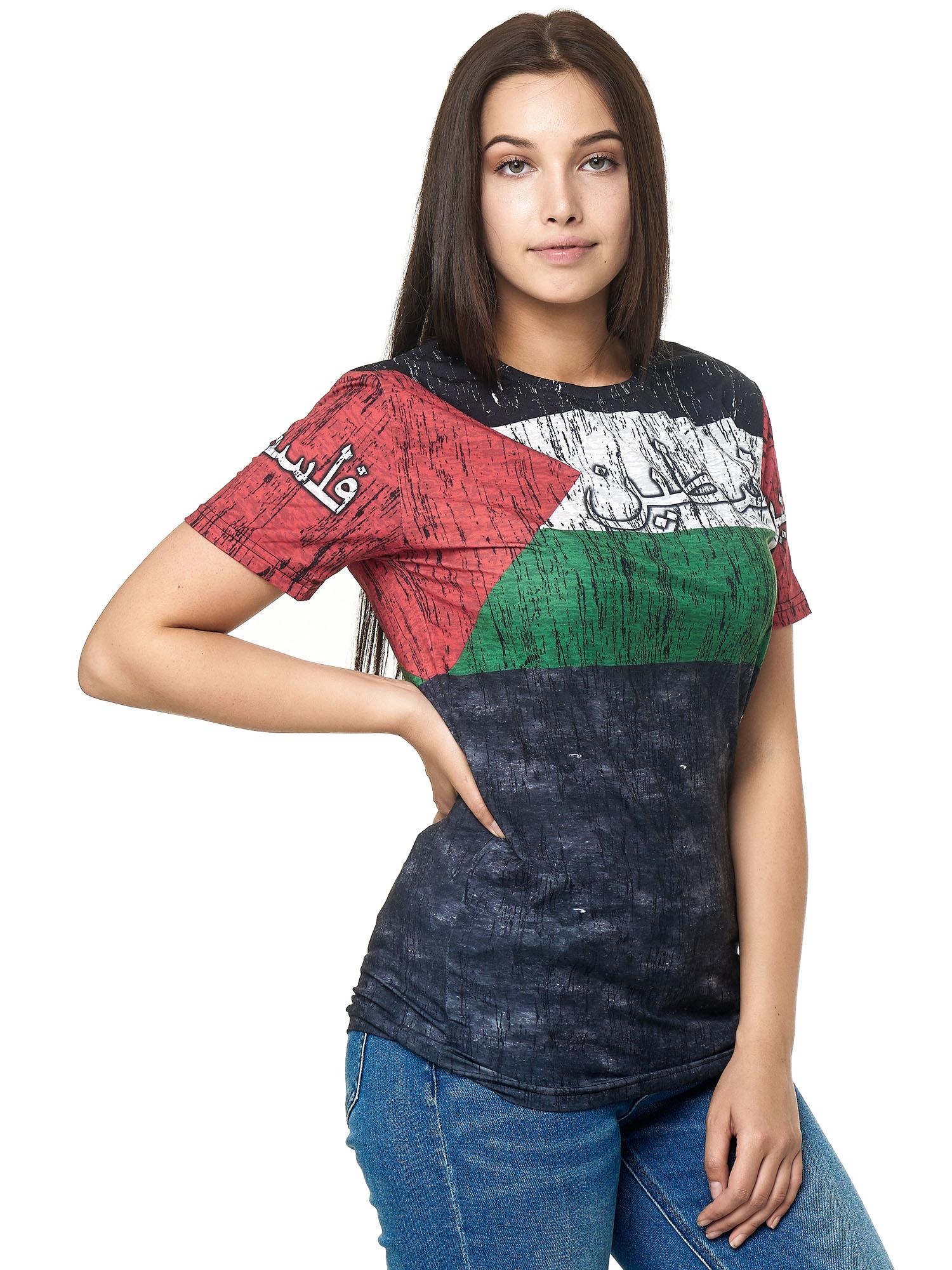 Paesi-da-Donna-T-shirt-A-Maniche-Corte-Girocollo-donne-CALCIO-Fanshirt-John-Kayna miniatura 88