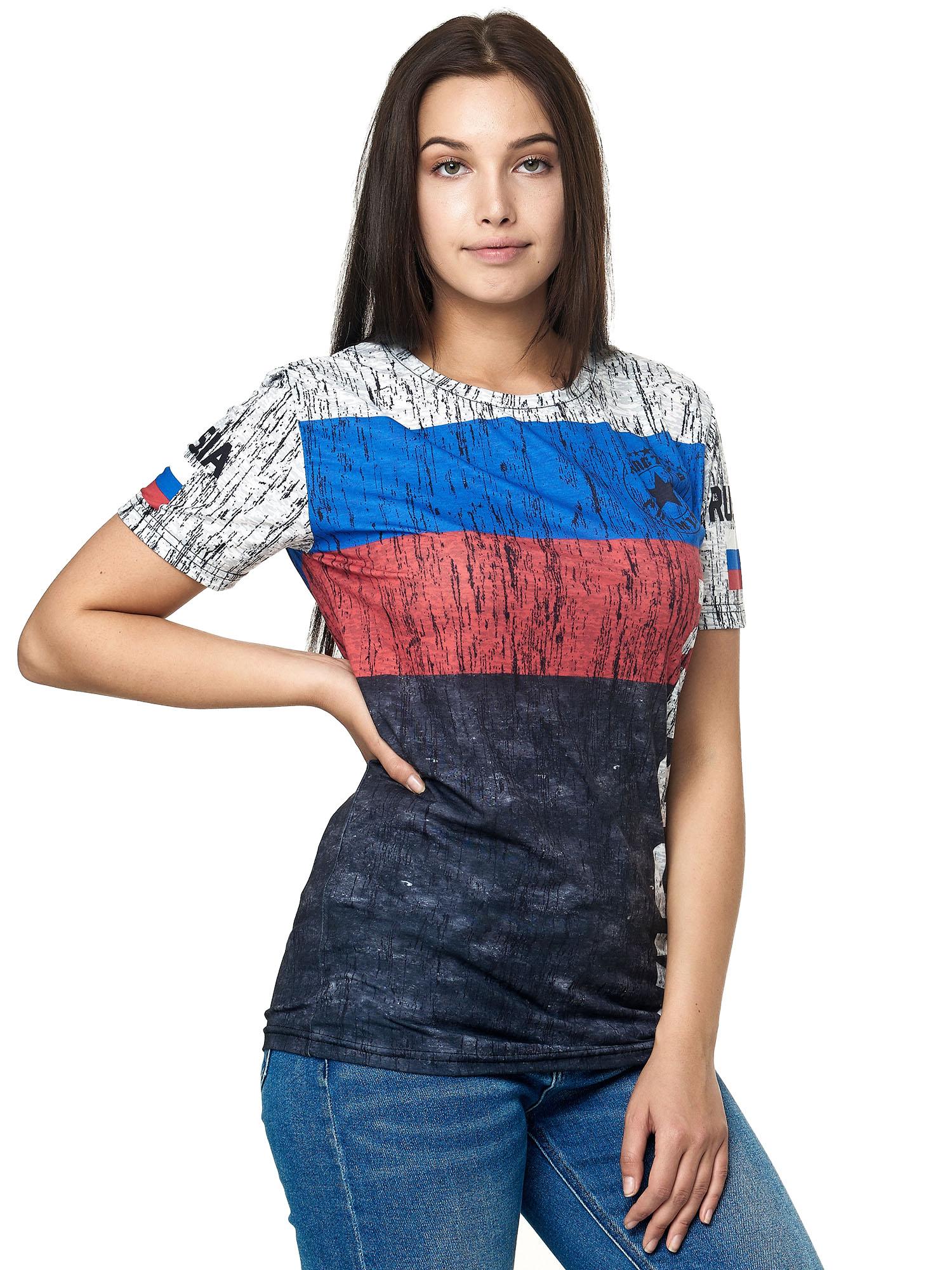 Paesi-da-Donna-T-shirt-A-Maniche-Corte-Girocollo-donne-CALCIO-Fanshirt-John-Kayna miniatura 98
