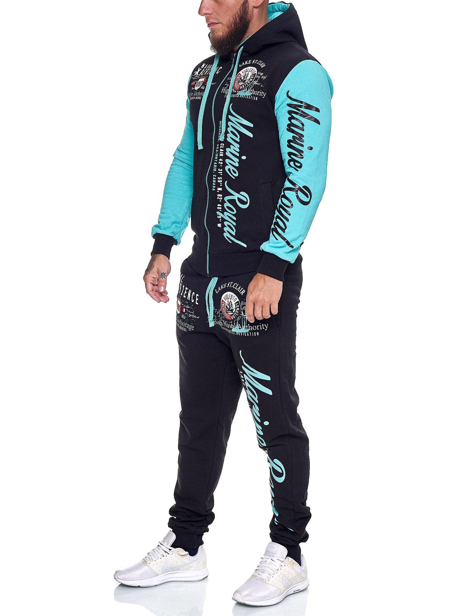 Damen-Jogginganzug-Frauen-Trainingsanzug-Sportanzug-Streetwear-JG-512-John-Kayna Indexbild 44