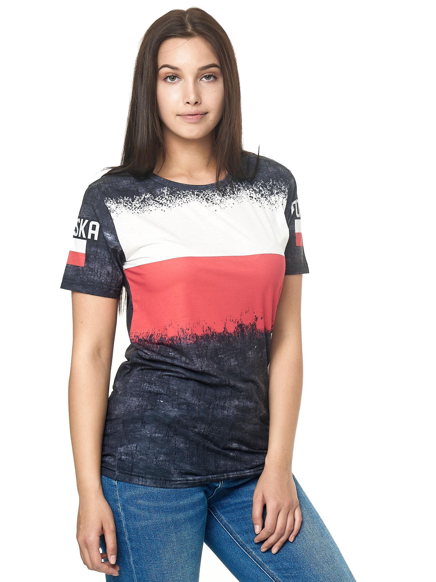 Paesi-da-Donna-T-shirt-A-Maniche-Corte-Girocollo-donne-CALCIO-Fanshirt-John-Kayna miniatura 93