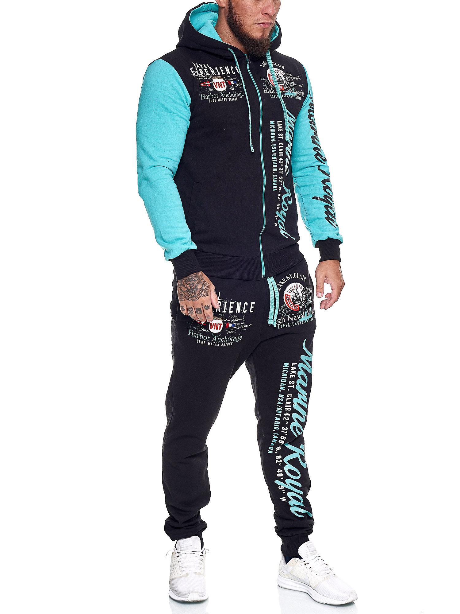 Damen-Jogginganzug-Frauen-Trainingsanzug-Sportanzug-Streetwear-JG-512-John-Kayna Indexbild 43