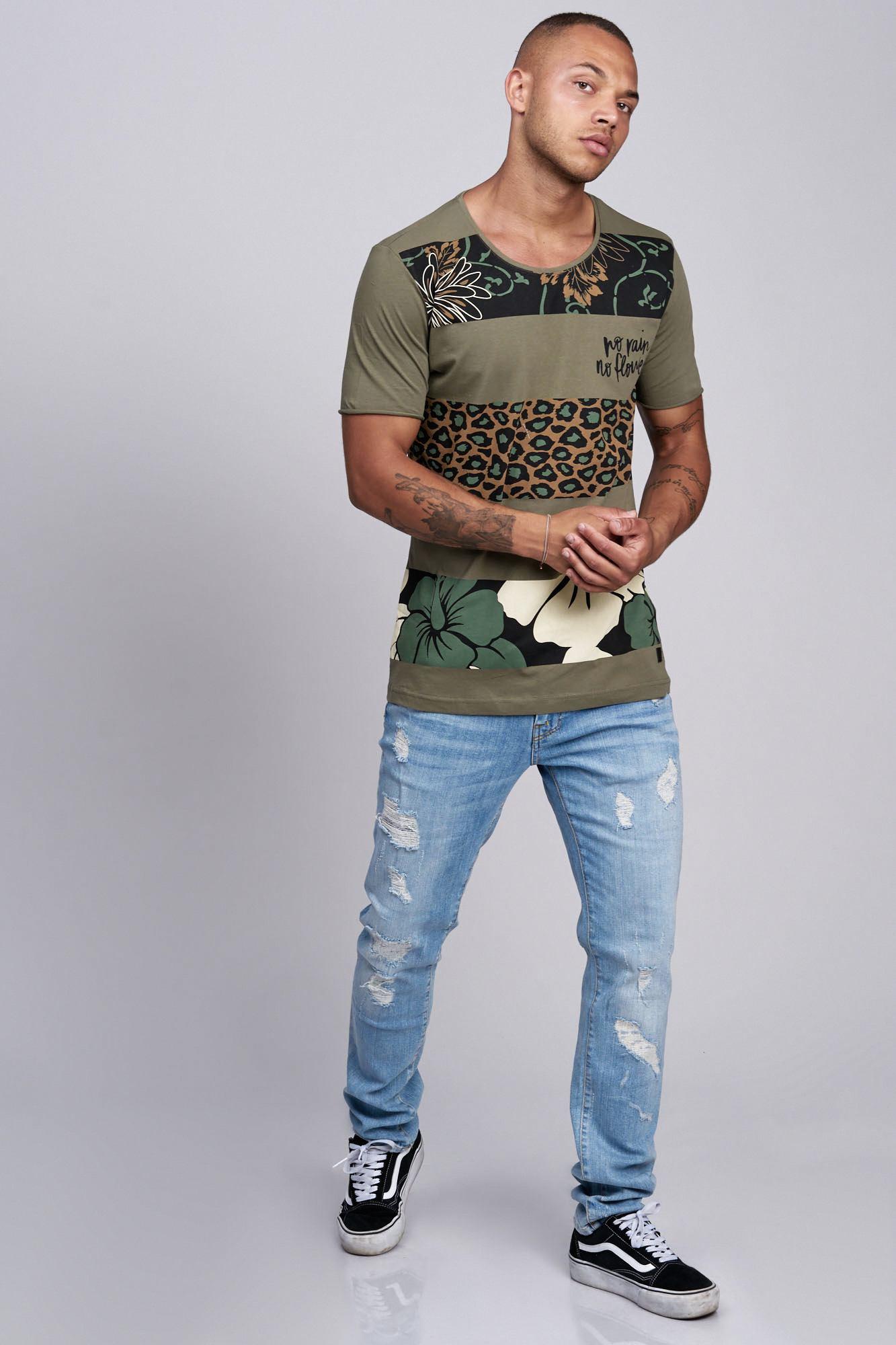 T-shirt-da-Uomo-Polo-Shirt-a-Maniche-Corte-printshirt-Polo-a-Maniche-Corte-17019-John-Kayna miniatura 6
