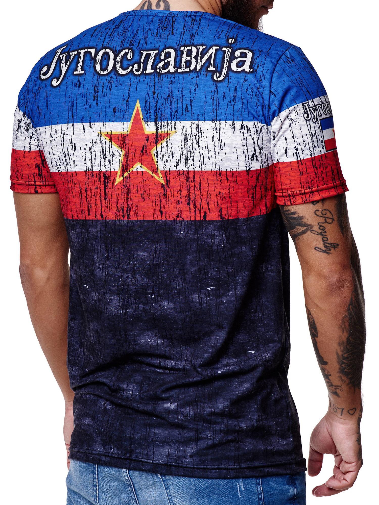 Paesi-da-Donna-T-shirt-A-Maniche-Corte-Girocollo-donne-CALCIO-Fanshirt-John-Kayna miniatura 75