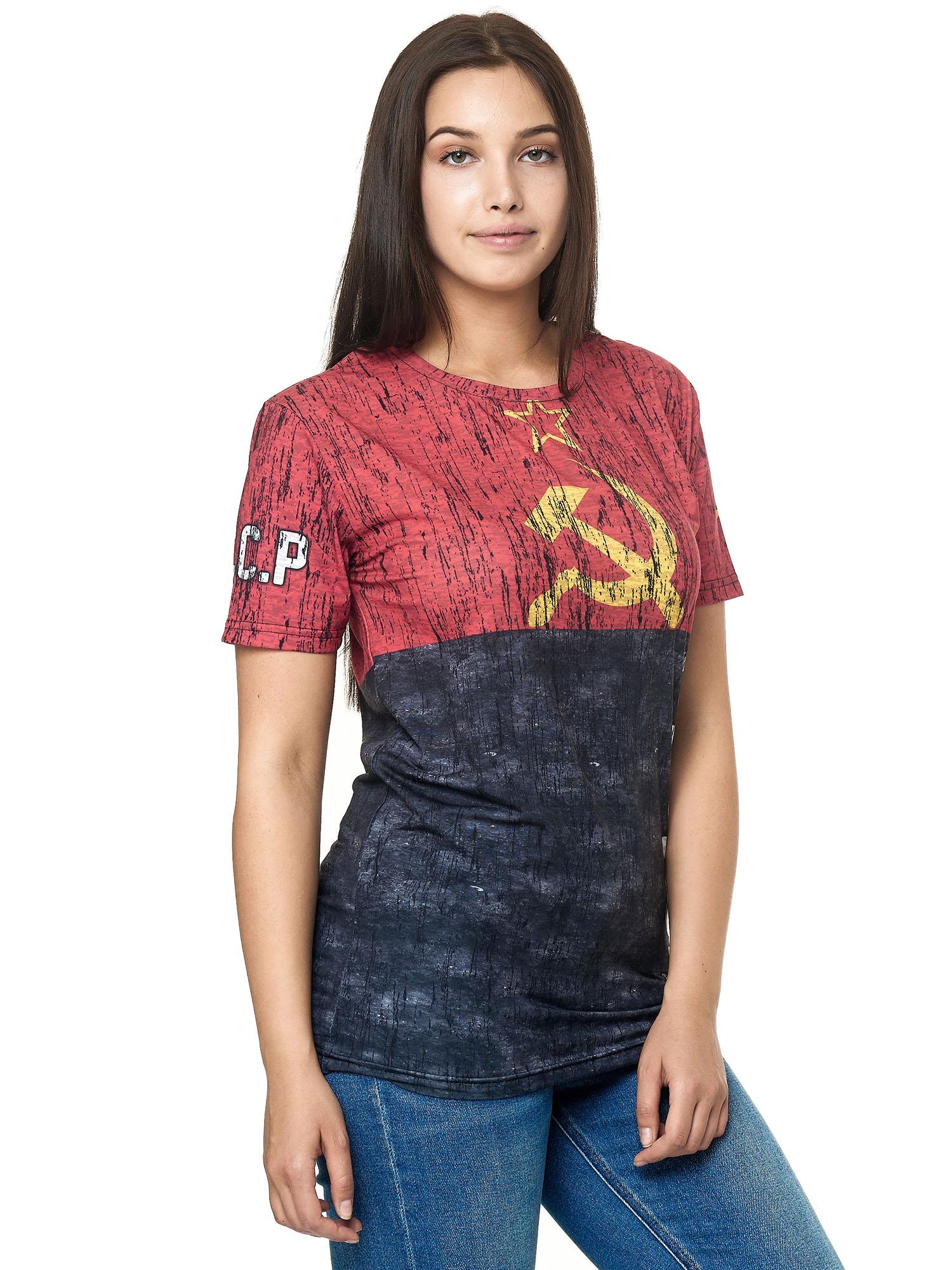 Paesi-da-Donna-T-shirt-A-Maniche-Corte-Girocollo-donne-CALCIO-Fanshirt-John-Kayna miniatura 19