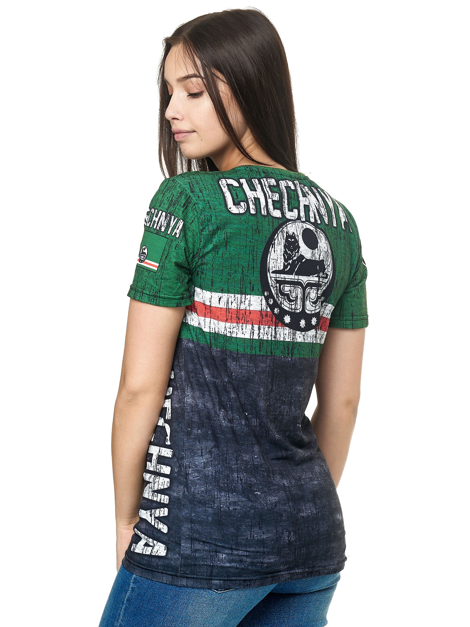 Paesi-da-Donna-T-shirt-A-Maniche-Corte-Girocollo-donne-CALCIO-Fanshirt-John-Kayna miniatura 40