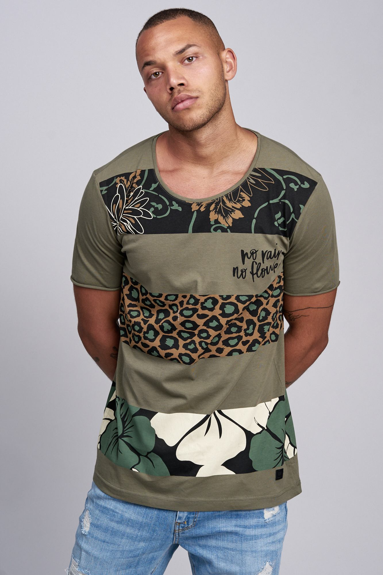 T-shirt-da-Uomo-Polo-Shirt-a-Maniche-Corte-printshirt-Polo-a-Maniche-Corte-17019-John-Kayna miniatura 9