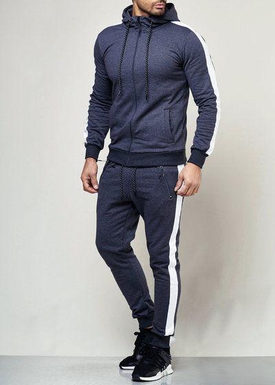 Hommes Jogging Costume Survêtement Sport Costume Fitness Streetwear 975 John Kayna
