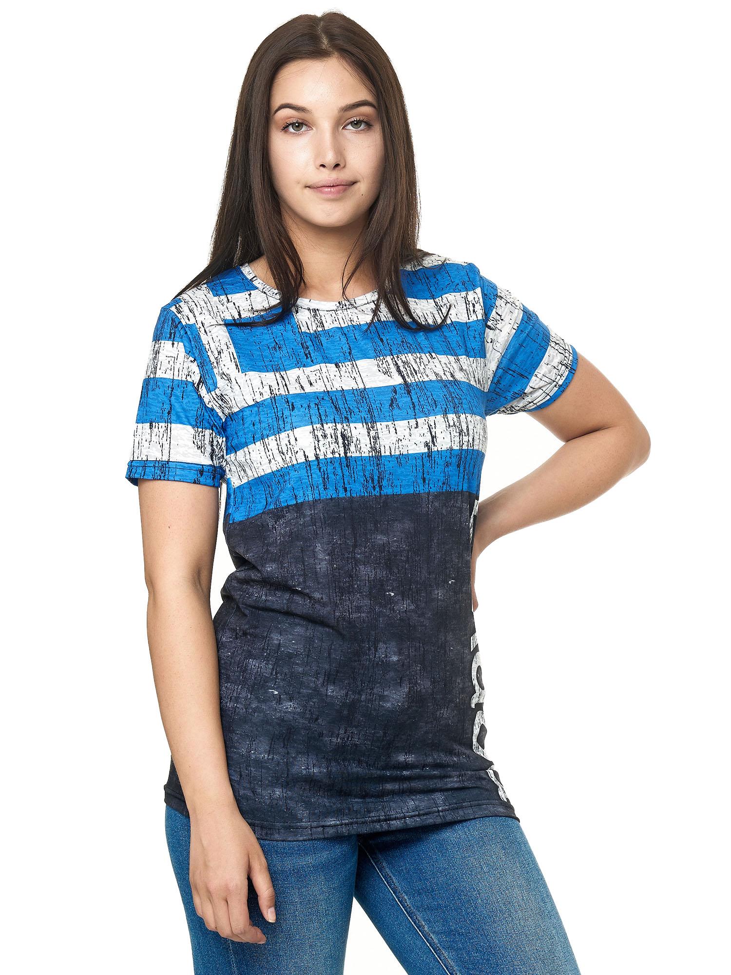 Paesi-da-Donna-T-shirt-A-Maniche-Corte-Girocollo-donne-CALCIO-Fanshirt-John-Kayna miniatura 53