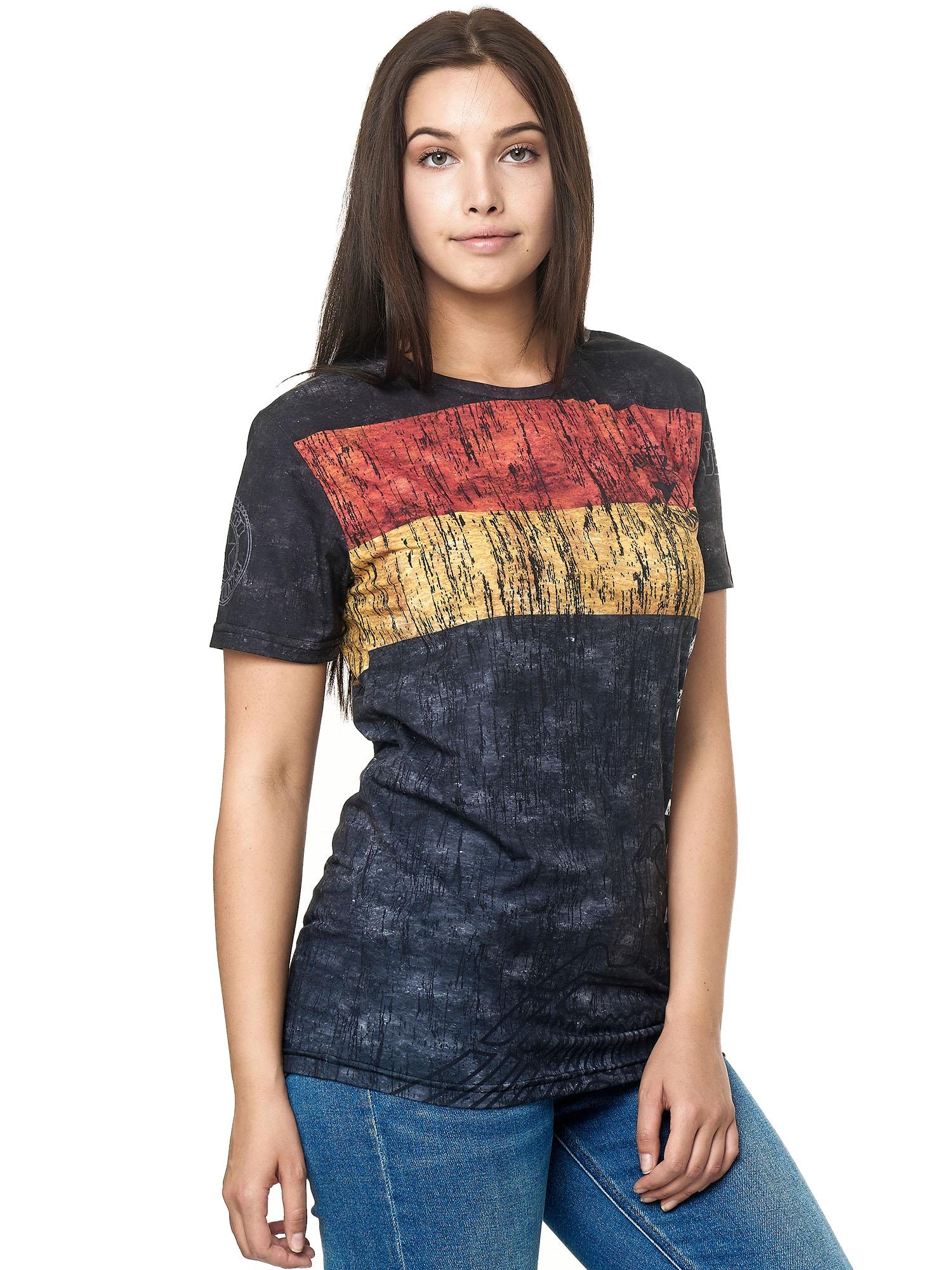Paesi-da-Donna-T-shirt-A-Maniche-Corte-Girocollo-donne-CALCIO-Fanshirt-John-Kayna miniatura 48