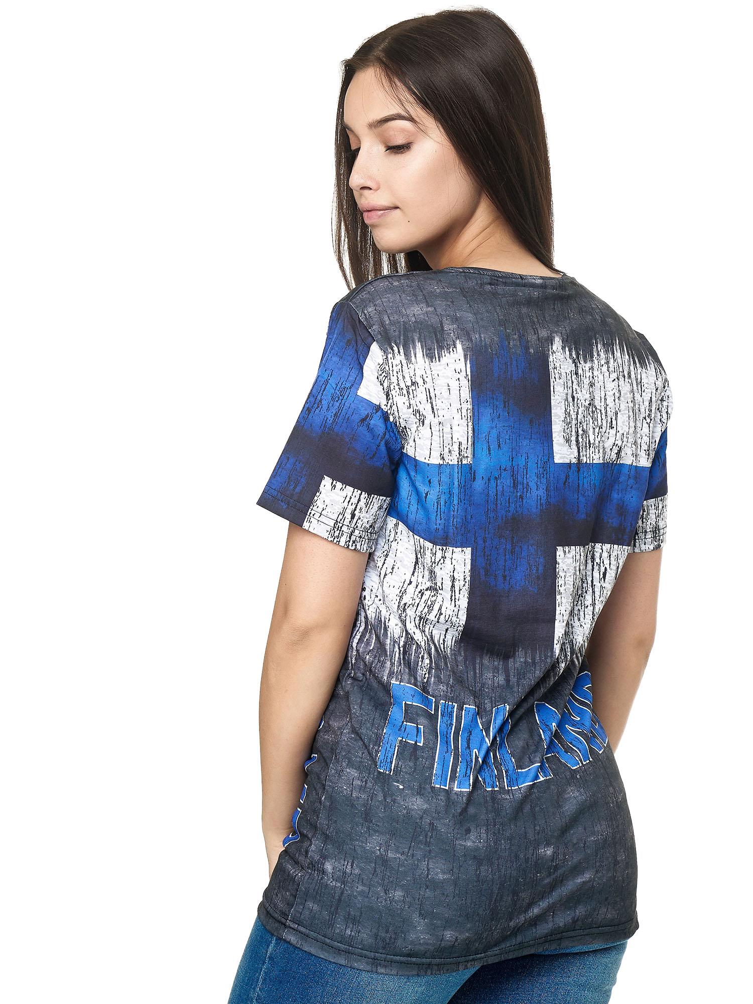 Paesi-da-Donna-T-shirt-A-Maniche-Corte-Girocollo-donne-CALCIO-Fanshirt-John-Kayna miniatura 45