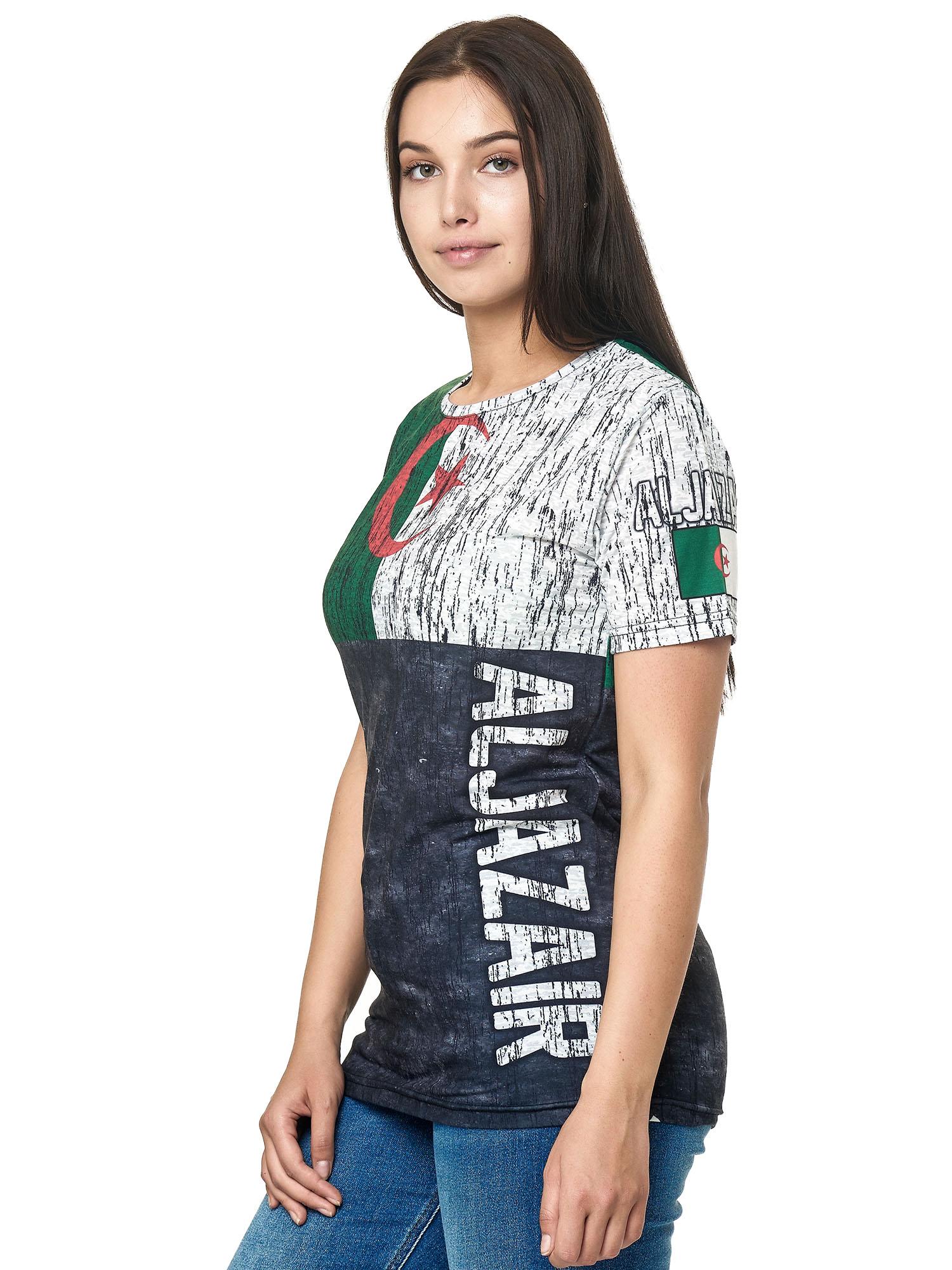 Paesi-da-Donna-T-shirt-A-Maniche-Corte-Girocollo-donne-CALCIO-Fanshirt-John-Kayna miniatura 33