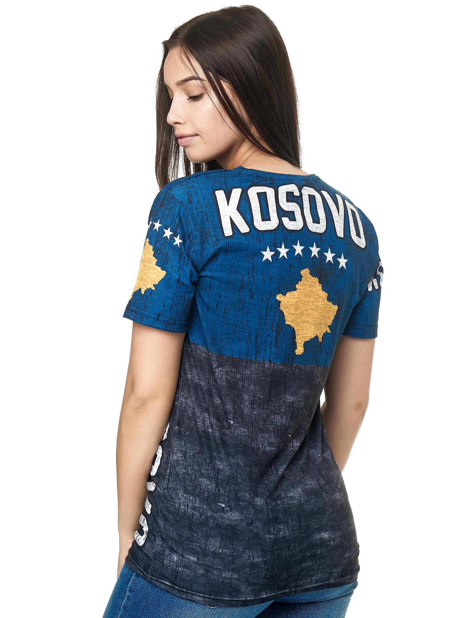 Paesi-da-Donna-T-shirt-A-Maniche-Corte-Girocollo-donne-CALCIO-Fanshirt-John-Kayna miniatura 79