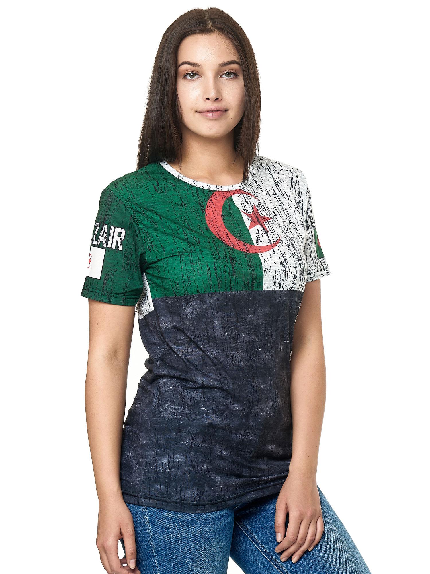 Paesi-da-Donna-T-shirt-A-Maniche-Corte-Girocollo-donne-CALCIO-Fanshirt-John-Kayna miniatura 34