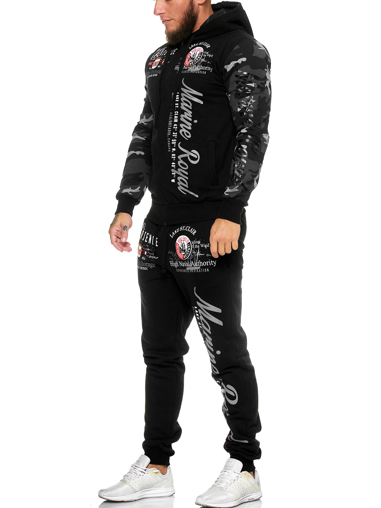 Damen-Jogginganzug-Frauen-Trainingsanzug-Sportanzug-Streetwear-JG-512-John-Kayna Indexbild 62