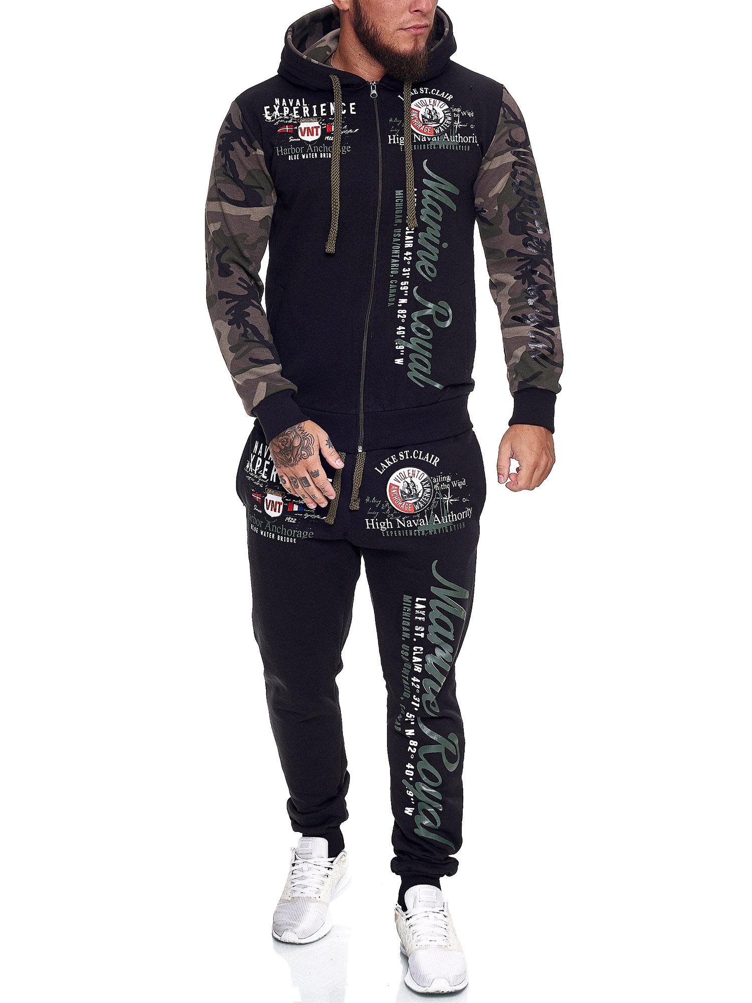 Damen-Jogginganzug-Frauen-Trainingsanzug-Sportanzug-Streetwear-JG-512-John-Kayna Indexbild 53