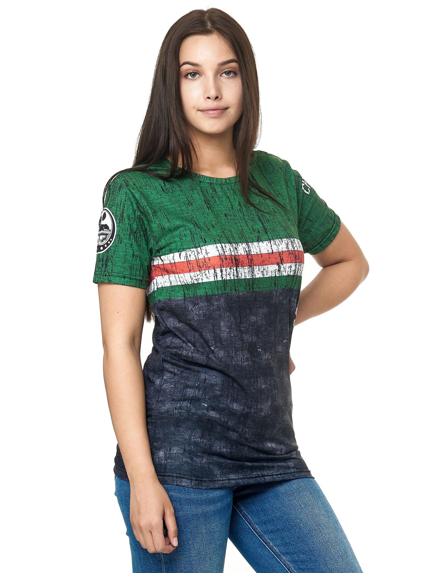 Paesi-da-Donna-T-shirt-A-Maniche-Corte-Girocollo-donne-CALCIO-Fanshirt-John-Kayna miniatura 39