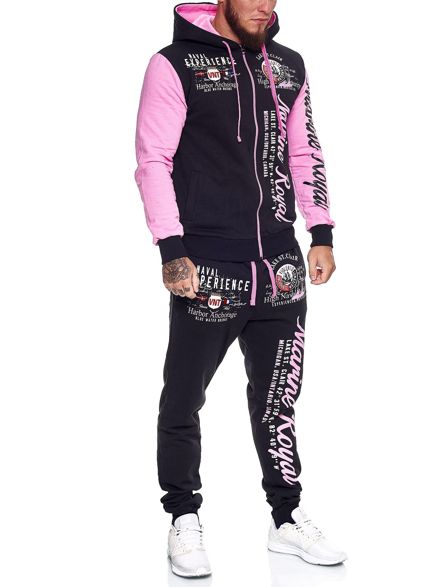 Damen-Jogginganzug-Frauen-Trainingsanzug-Sportanzug-Streetwear-JG-512-John-Kayna Indexbild 37